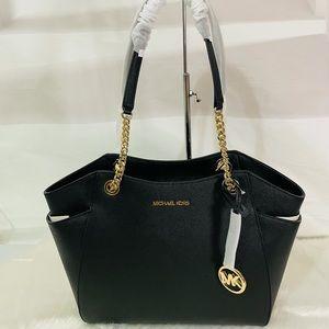 NWT Michael Kors Black Large shoulder tote bag